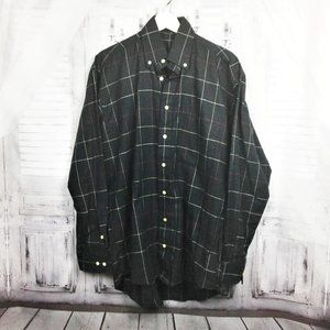 Burberry London Button Down Shirt Black Check M